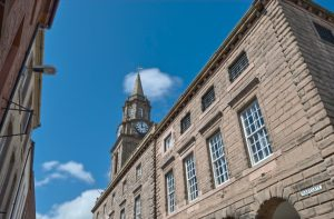 Berwick upon Tweed Town Hall.